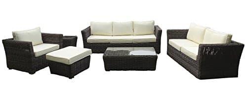 Baidani Garten Lounge Garnitur Rundrattan, Empire Select