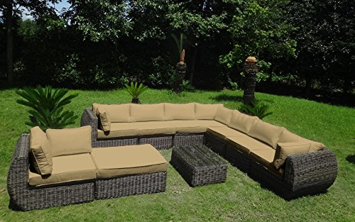 Baidani garten lounge garnitur rundrattan masterpiece select m bel24 for Lounge garnitur garten