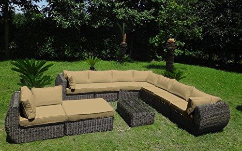 Baidani garten lounge garnitur rundrattan masterpiece select m bel24 - Lounge garnitur garten ...