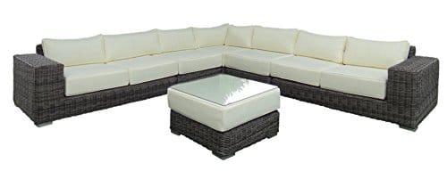 Baidani Garten Lounge Garnitur Rundrattan, Sensation Select