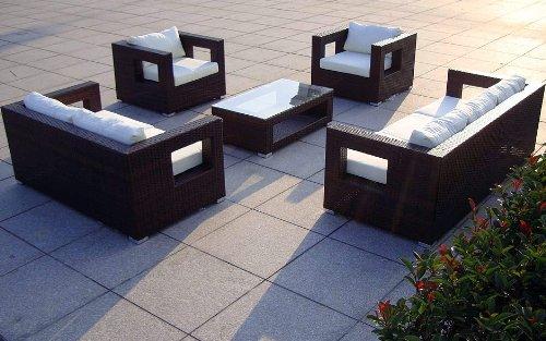 Baidani Rattan Lounge-Garnitur Seaside, 19-teilig