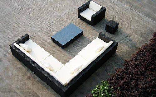 Baidani Rattan Lounge-Garnitur Sun-Master, 25-teilig