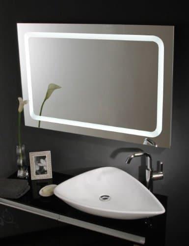 beleuchteter wandspiegel badspiegel led spiegel modell eustath 75 x 60 cm 0 m bel24. Black Bedroom Furniture Sets. Home Design Ideas