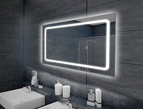 """KROLLMANN Spiegel mit Belechtung Wandspiegel Badspiegel LED Modell """"Eustath"""" 100 x 65 cm"""