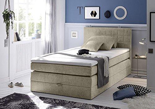 Boxspringbett mit Bettkasten Bonell-Federkern Hotelbett Polsterbett inklusive Topper Designer Bett von Möbel-BOXX