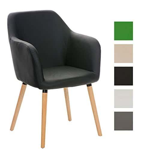 CLP Besucher Design-Stuhl PICARD, Holzgestell, Sitzfläche gut gepolstert, modern
