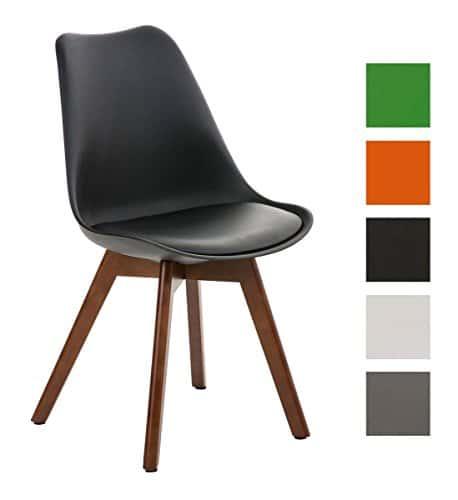 clp design retro stuhl borneo mit holzgestell walnuss materialmix aus kunststoff kunstleder und. Black Bedroom Furniture Sets. Home Design Ideas