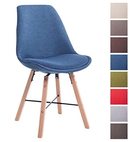 CLP Design Retrostuhl LAFFONT mit Stoffbezug und hochwertiger Polsterung | Lehnstuhl mit Holzgestell | In verschiedenen Farben erhältlich