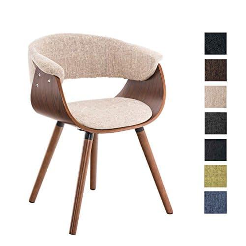 CLP Esszimmerstuhl PIRMA mit Stoffbezug | Konferenzstuhl mit robustem Holzgestell | In verschiedenen Farben erhältlich