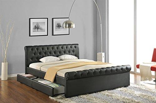 Doppelbett Polsterbett Bettgestell Bett Lattenrost Kunstleder