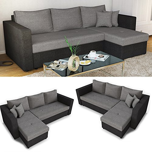 ecksofa mit schlaffunktion sofa couch schlafsofa polsterecke bettfunktion m bel24. Black Bedroom Furniture Sets. Home Design Ideas