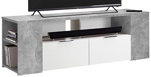 FMD Möbel Tabor 1 TV/Hifi-Element, Holz, beton / weiß, 150 x 40 x 50 cm