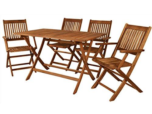 Gartenmöbel 4 Personen Sitzgruppe Holz Gartengarnitur Sitzgarnitur Essgruppe #3117