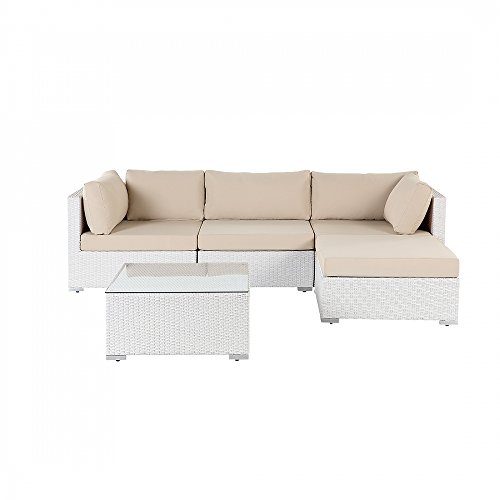 gartenm bel weiss rattanm bel polyrattan lounge. Black Bedroom Furniture Sets. Home Design Ideas