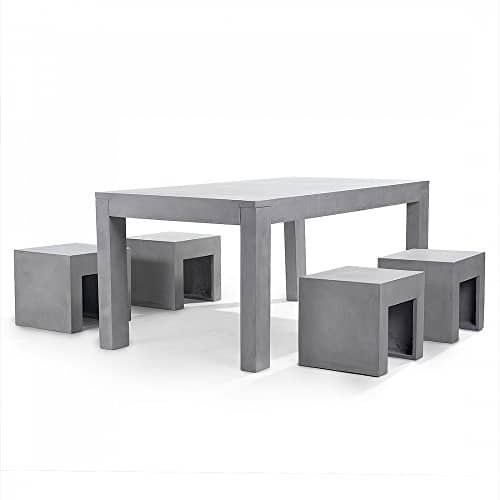 gartenm bel aus beton tisch mit vier st hlen betonm bel taranto m bel24. Black Bedroom Furniture Sets. Home Design Ideas