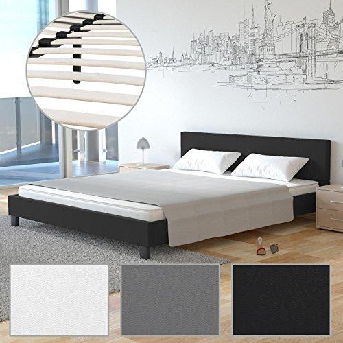 Homelux Polsterbett Doppelbett Bettgestell Bettrahmen Kunstleder