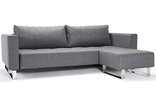 INNOVATION LIVING Design Sofa Schlafsofa Cassius Deluxe Excess Lounger grau Twist Charcoal Convertible Bett 155 * 200 cm