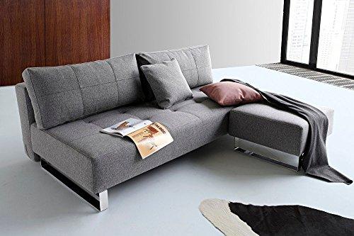 INNOVATION LIVING Design Sofa Schlafsofa Supremax Deluxe Excess Lounger grau Twist Charcoal Convertible Bett 155* 200cm