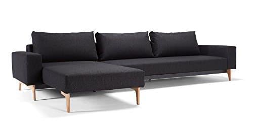 Innovation - Idun Schlafsofa mit Lounger - schwarz - Twist - Per Weiss - Design - Sofa