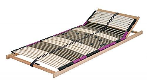 DaMi Wohn- und Schlafsysteme JETZT NEU mit 56 Federholzleisten !!!! 7 Zonen Lattenrost aus Buche Premium KV inkl. 6 fache Härteverstellung, zerlegt, mit Kopfverstellung