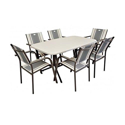 JUSTyou Albergo Sydney Essgruppe Gartenmöbel Gartengarnitur Set 4x Stuhl + 1x Tisch in Rattan-Optik