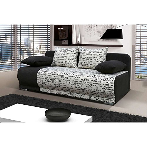 justyou roma einzelsofa sofa schlafsofa mikrofaser strukturstoff hxbxt 90x200x95 cm gro e. Black Bedroom Furniture Sets. Home Design Ideas