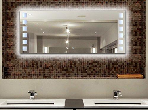 krollmann badspiegel beleuchtet 120 x 50 cm led badezimmer wandspiegel mit beleuchtung. Black Bedroom Furniture Sets. Home Design Ideas
