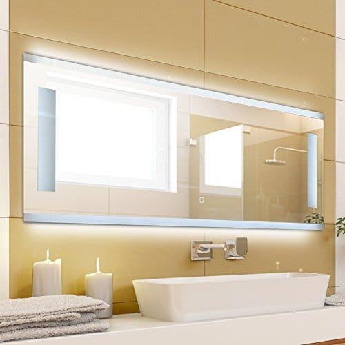krollmann badspiegel mit beleuchtung modern ohne rahmen mit touch sensor beleuchtet mit. Black Bedroom Furniture Sets. Home Design Ideas