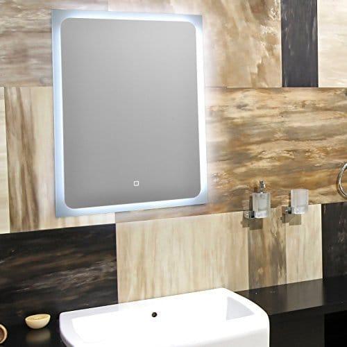 KROLLMANN Wandspiegel Badspiegel mit LED Beleuchtung Touch Sensor 70x50 cm