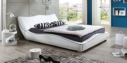 polsterbett 140x200 mit lattenrost designer bett stella schwarz doppelbett ehebett m bel24. Black Bedroom Furniture Sets. Home Design Ideas