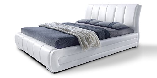 Polsterbett mit Lattenrost Designer Bett Danville Weiß