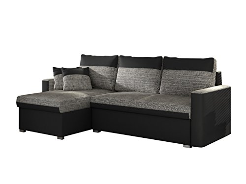 polsterecke fler mit zwei bettkasten und schlaffunktion bettsofa schlafcouch funktionssofa. Black Bedroom Furniture Sets. Home Design Ideas