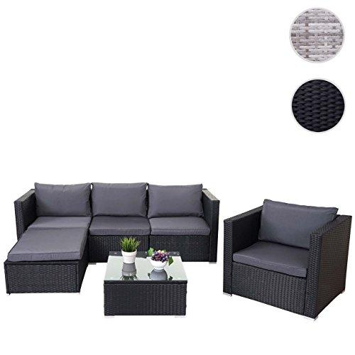 Mendler Poly-Rattan-Garnitur Brescia, Gartengarnitur Sitzgruppe Lounge-Set