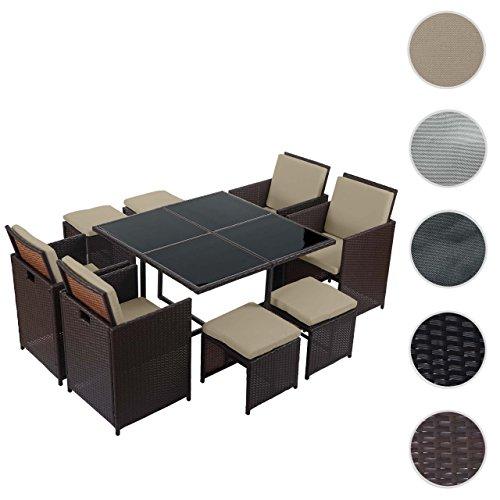 poly rattan garten garnitur kreta lounge set sitzgruppe 0 m bel24. Black Bedroom Furniture Sets. Home Design Ideas