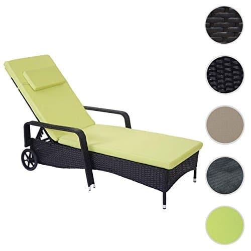 Mendler Poly-Rattan Sonnenliege Carrara, Relaxliege Gartenliege Liege, Alu