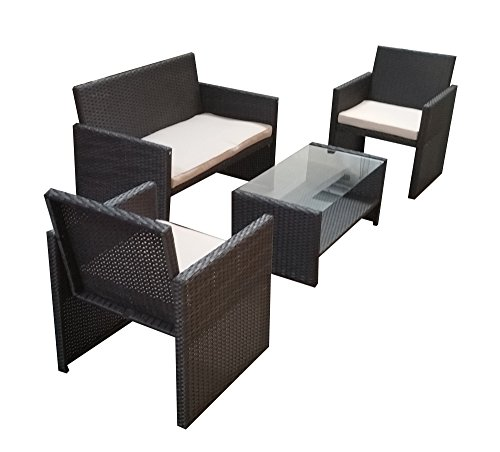 polyrattan gartenm bel gartenm bel set gartengarnitur sitzgarnitur sj02 schwarz m bel24. Black Bedroom Furniture Sets. Home Design Ideas