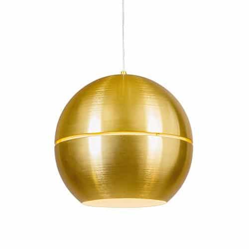 QAZQA Art Deco/Design/Modern/Retro/Esstisch/Esszimmer/Pendelleuchte/Pendellampe/Hängelampe/Lampe/Leuchte Slice 40 Gold/Messing/Innenbeleuchtung/Wohnzimmer/Schlafzimmer/Kü