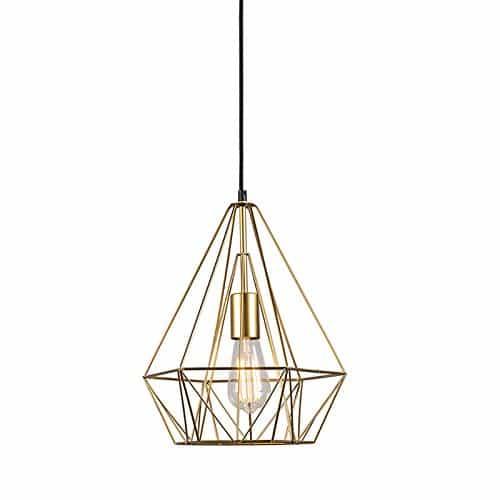 QAZQA Design / Modern / Pendelleuchte / Pendellampe / Hängelampe / Lampe / Leuchte Carcass Gold / Messing / Innenbeleuchtung / Wohnzimmer / Schlafzimmer / Küche Metall Rund / Andere / LED geeignet E27