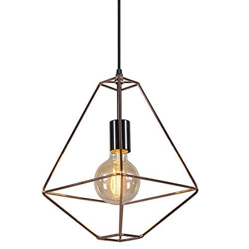 QAZQA Design/Modern/Pendelleuchte/Pendellampe/Hängelampe/Lampe/Leuchte Retro Frame A kupfer/Innenbeleuchtung/Wohnzimmer/Schlafzimmer/Küche Metall Quadratisch LED geeignet E27 Max.