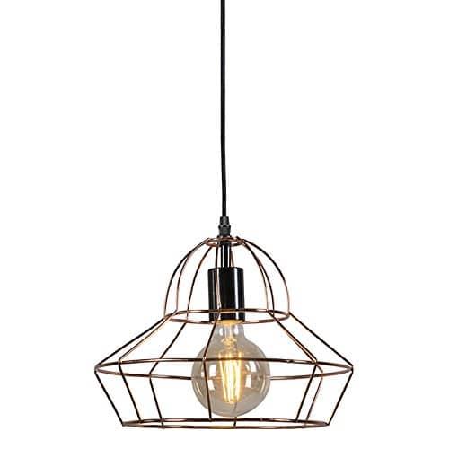 qazqa design modern pendelleuchte pendellampe h ngelampe lampe leuchte retro frame d kupfer. Black Bedroom Furniture Sets. Home Design Ideas