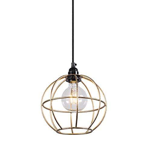 QAZQA Design / Modern / Pendelleuchte / Pendellampe / Hängelampe / Lampe / Leuchte Retro Frame Luxe A Gold / Messing / Innenbeleuchtung / Wohnzimmer / Schlafzimmer / Küche Metall Kugel / Kugelförmig L
