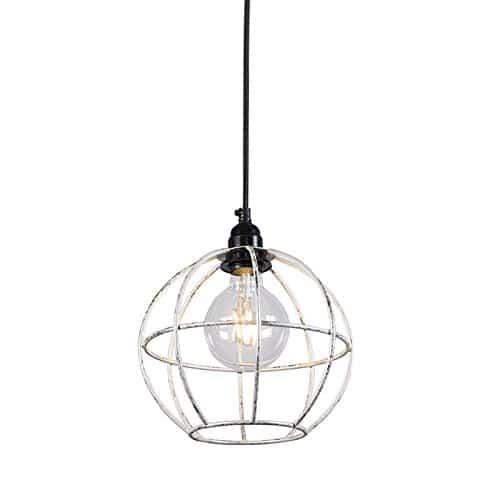 QAZQA Design / Modern / Pendelleuchte / Pendellampe / Hängelampe / Lampe / Leuchte Retro Frame Luxe A Silber / Innenbeleuchtung / Wohnzimmer / Schlafzimmer / Küche Metall Kugel / Kugelförmig LED geeig