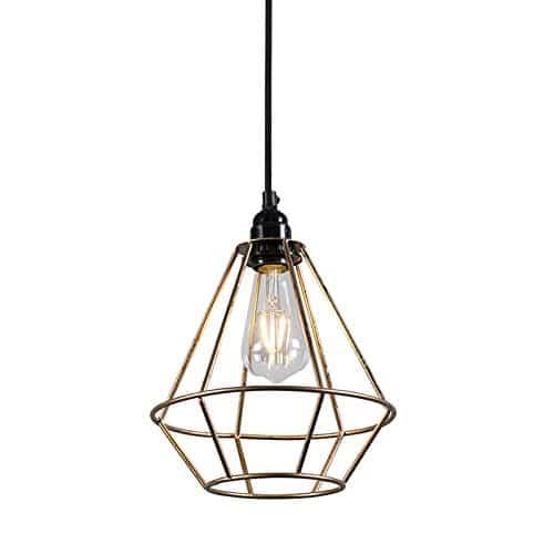 QAZQA Design / Modern / Pendelleuchte / Pendellampe / Hängelampe / Lampe / Leuchte Retro Frame Luxe B Gold / Messing / Innenbeleuchtung / Wohnzimmer / Schlafzimmer / Küche Metall Rund LED geeignet E27