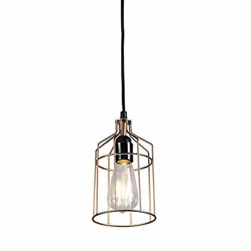 QAZQA Design / Modern / Pendelleuchte / Pendellampe / Hängelampe / Lampe / Leuchte Retro Frame Luxe C Kupfer / Innenbeleuchtung / Wohnzimmer / Schlafzimmer / Küche Metall Zylinder LED geeignet E27 Max