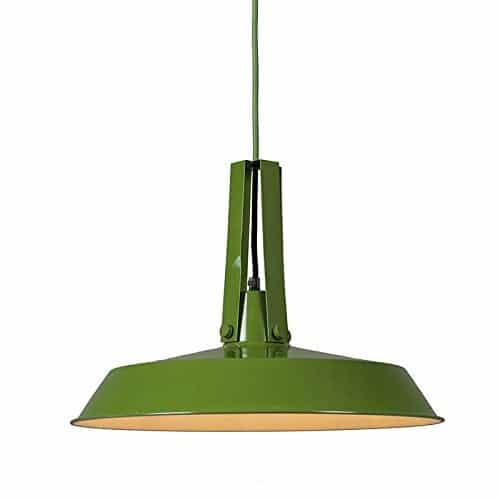 QAZQA Für Kinder / Industrie / Industrial / Modern / Retro / Esstisch / Esszimmer / Pendelleuchte / Pendellampe / Hängelampe / Lampe / Leuchte Living 40cm grün / Innenbeleuchtung / Wohnzimmer / Schlaf