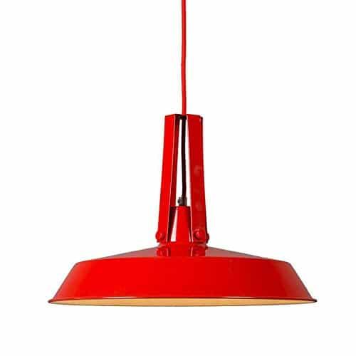 QAZQA Für Kinder / Industrie / Industrial / Modern / Retro / Esstisch / Esszimmer / Pendelleuchte / Pendellampe / Hängelampe / Lampe / Leuchte Living 40cm rot / Innenbeleuchtung / Wohnzimmer / Schlafz