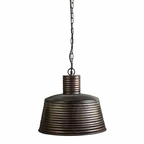 QAZQA Industrie / Industrial / Modern / Retro / Esstisch / Esszimmer / Pendelleuchte / Pendellampe / Hängelampe / Lampe / Leuchte Fear rostbraun / Innenbeleuchtung / Wohnzimmer / Schlafzimmer / Küche