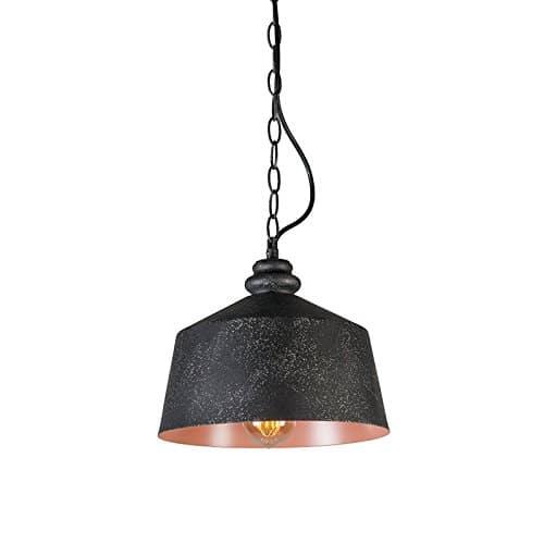 QAZQA Industrie / Industrial / Modern / Retro / Pendelleuchte / Pendellampe / Hängelampe / Lampe / Leuchte Smart 1 schwarz / Innenbeleuchtung / Wohnzimmer / Schlafzimmer / Küche Metall Rund LED geeign