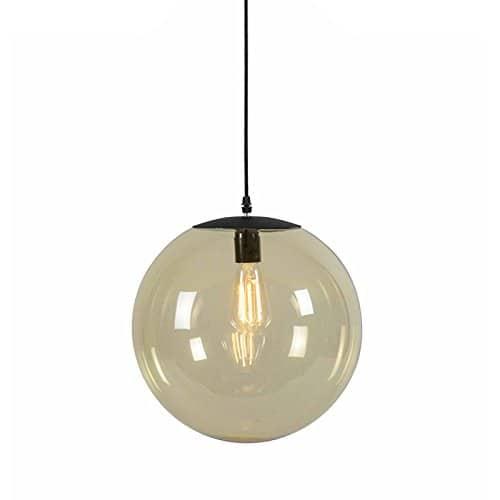 QAZQA Modern Pendelleuchte/Pendellampe/Hängelampe/Lampe/Leuchte Pallon 35 gelb/Innenbeleuchtung/Wohnzimmer/Schlafzimmer/Küche Glas/Metall/Kugel/Kugelförmig LED geeignet E27 Max.