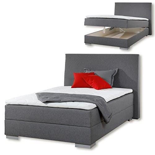 boxspringbett jumper grau h2 120x200 cm m bel24. Black Bedroom Furniture Sets. Home Design Ideas